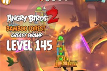 Angry Birds 2 Level 145 Bamboo Forest – Greasy Swamp 3-Star Walkthrough