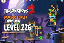 Angry Birds 2 Level 226 Bamboo Forest – Misty Mire 3-Star Walkthrough