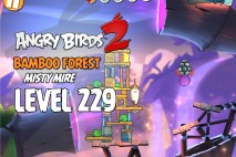 Angry Birds 2 Level 229 Bamboo Forest – Misty Mire 3-Star Walkthrough