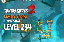 Angry Birds 2 Level 234 Bamboo Forest – Misty Mire 3-Star Walkthrough