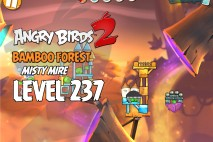 Angry Birds 2 Level 237 Bamboo Forest – Misty Mire 3-Star Walkthrough