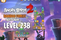 Angry Birds 2 Level 238 Bamboo Forest – Misty Mire 3-Star Walkthrough