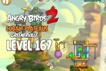 Angry Birds 2 Level 167 Cobalt Plateaus – Greenerville 3-Star Walkthrough