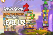 Angry Birds 2 Level 172 Cobalt Plateaus – Greenerville 3-Star Walkthrough