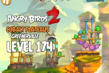 Angry Birds 2 Level 174 Cobalt Plateaus – Greenerville 3-Star Walkthrough