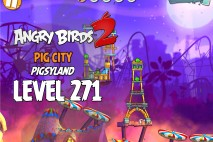 Angry Birds 2 Level 271 Pig City – Pigsyland 3-Star Walkthrough