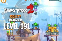 Angry Birds 2 Level 191 Pig City – Steakholm 3-Star Walkthrough