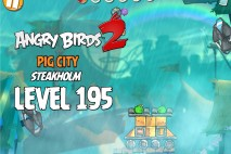 Angry Birds 2 Level 195 Pig City – Steakholm 3-Star Walkthrough