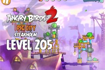 Angry Birds 2 Level 205 Pig City – Steakholm 3-Star Walkthrough