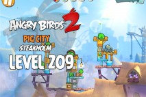 Angry Birds 2 Level 209 Pig City – Steakholm 3-Star Walkthrough
