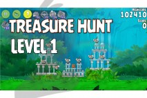 Angry Birds Rio Treasure Hunt Walkthrough Level #1