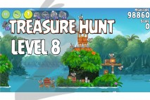 Angry Birds Rio Treasure Hunt Walkthrough Level #8