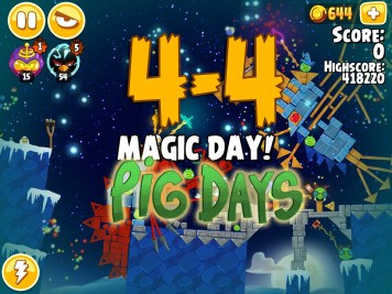 Angry Birds Seasons Pig Days Chapter 4 Level 4-4