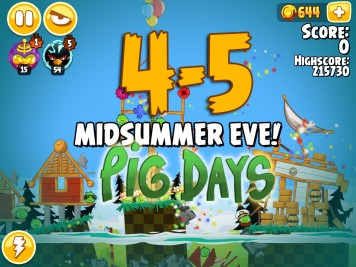Angry Birds Seasons Pig Days Chapter 4 Level 4-5