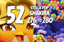 Angry Birds Stella Pop Levels 276 to 280 Cloudy Peaks Walkthroughs