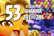 Angry Birds Stella Pop Levels 281 to 285 Cloudy Peaks Walkthroughs