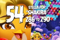 Angry Birds Stella Pop Levels 286 to 290 Cloudy Peaks Walkthroughs