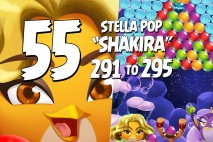 Angry Birds Stella Pop Levels 291 to 295 Cloudy Peaks Walkthroughs