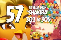 Angry Birds Stella Pop Levels 301 to 305 Love Lagoon Walkthroughs