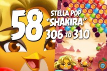 Angry Birds Stella Pop Levels 306 to 310 Love Lagoon Walkthroughs