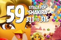 Angry Birds Stella Pop Levels 311 to 315 Love Lagoon Walkthroughs