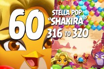 Angry Birds Stella Pop Levels 316 to 320 Love Lagoon Walkthroughs