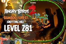 Angry Birds 2 Level 281 Bamboo Forest Snotting Hill 3-Star Walkthrough