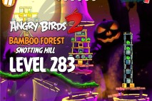 Angry Birds 2 Level 283 Bamboo Forest Snotting Hill 3-Star Walkthrough