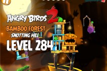 Angry Birds 2 Level 284 Bamboo Forest Snotting Hill 3-Star Walkthrough