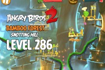 Angry Birds 2 Chef Pig Level 286 Boss Fight Walkthrough – Bamboo Forest Snotting