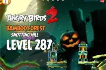 Angry Birds 2 Level 287 Bamboo Forest Snotting Hill 3-Star Walkthrough