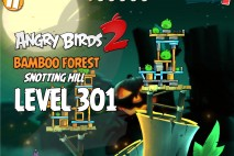 Angry Birds 2 Level 301 Bamboo Forest Snotting Hill 3-Star Walkthrough