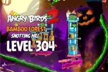 Angry Birds 2 Level 304 Bamboo Forest Snotting Hill 3-Star Walkthrough