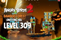 Angry Birds 2 Level 309 Bamboo Forest Snotting Hill 3-Star Walkthrough