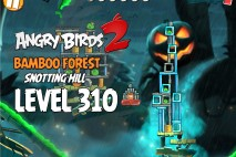 Angry Birds 2 Level 310 Bamboo Forest Snotting Hill 3-Star Walkthrough
