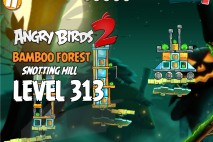 Angry Birds 2 Level 313 Bamboo Forest Snotting Hill 3-Star Walkthrough