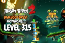 Angry Birds 2 Level 315 Bamboo Forest Snotting Hill 3-Star Walkthrough