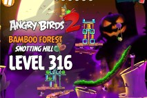 Angry Birds 2 Level 316 Bamboo Forest Snotting Hill 3-Star Walkthrough
