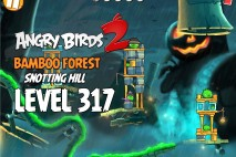 Angry Birds 2 Level 317 Bamboo Forest Snotting Hill 3-Star Walkthrough