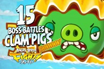 Angry Birds Fight! The Super CLAM Pigs Have Risen! BOSS FIGHT
