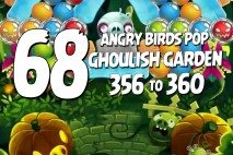 Angry Birds Pop Levels 356 to 360 Ghoulish Garden Walkthroughs