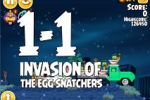 Angry Birds Seasons Invasion of the Egg Snatchers Level 1-1 Walkthrough
