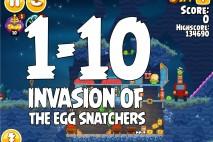 Angry Birds Seasons Invasion of the Egg Snatchers Level 1-10 Walkthrough