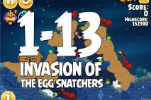 Angry Birds Seasons Invasion of the Egg Snatchers Level 1-13 Walkthrough