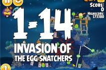 Angry Birds Seasons Invasion of the Egg Snatchers Level 1-14 Walkthrough