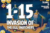 Angry Birds Seasons Invasion of the Egg Snatchers Level 1-15 Walkthrough