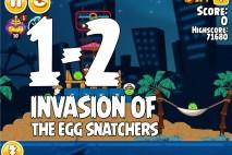 Angry Birds Seasons Invasion of the Egg Snatchers Level 1-2 Walkthrough