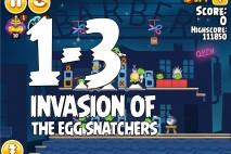 Angry Birds Seasons Invasion of the Egg Snatchers Level 1-3 Walkthrough