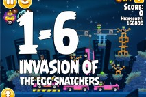 Angry Birds Seasons Invasion of the Egg Snatchers Level 1-6 Walkthrough
