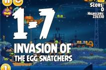Angry Birds Seasons Invasion of the Egg Snatchers Level 1-7 Walkthrough